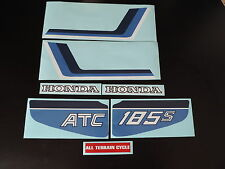 1983 Honda ATC 185s Three Wheeler Gas Tank And Fender Decal Set
