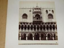 NAYA / VENISE VENEZIA 1870 Palazzo Ducale verso Piazzetta VINTAGE Albumen Print