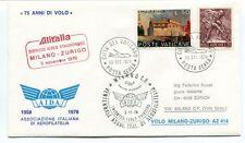 FFC 1978 Alitalia Dispaccio Aereo Straordinario Volo Milano Zurigo Vaticano