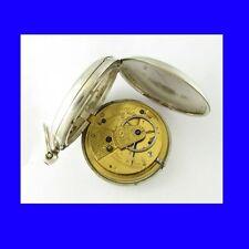 Reloj De Bolsillo impresionante Plata fusee Tunbridge Wells Cazador 1845