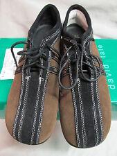 David Tate Size 9SS Black Brown Comfort Casual Oxford EUC
