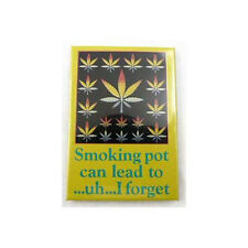 "Smoking Pot Can Lead To... I Forget Fridge Magnet 3"" x 2"" Marijuana Dope"