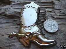 Bolo Slide Silver Plate Boot w Spur 18 x 25mm Vertical 0242 (pkg of 3)