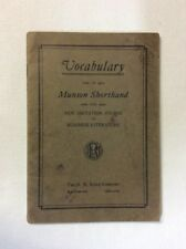 Vocabulary in Munson Shorthand for New Dictation Course 1928(Pamphlet)-Acceptabl