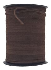 Brown Flat 5 mm wide 1.5 mm thick suede leather cord