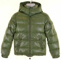 MONCLER Boys Padded Jacket 11-12 Years Green Nylon  II18