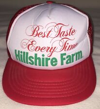 Hillshire Farm Trucker Hat Cap Best Taste Every Time Red White Snapback Adj