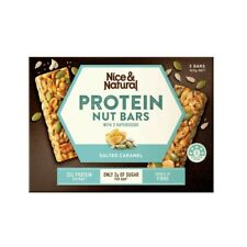 Nice & Natural Salted Caramel Protein Nut Bars With 3 Superseeds 5 Pack 165g
