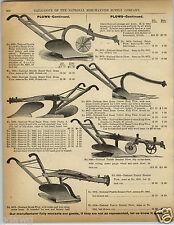 1892 PAPER AD The National Prairie Breaker Plow Beam Cotton King Farm Equipment