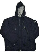 The North Face Womens Windbreaker Jacket Size L Black Hyvent Nylon Rain Shell