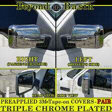 2004 05 06 07 2008 FORD F150 TRIPLE Chrome Mirror COVERS Overlays POWER MIRRORS
