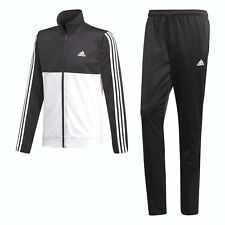 Adidas Men's Full Zip Training Tracksuit BlackWhite Size Small