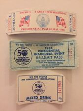 THREE DIFFERENT 1981 & 1985 PRESIDENT RONALD REAGAN INAUGURATION Event Tickets