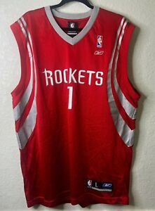 Vintage Reebok NBA Houston Rockets Tracy McGrady #1 Jersey Size L