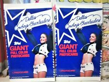 4 packs of 1981 Dallas Cowboys Cheerleaders TOPPS 1 photocard per pack