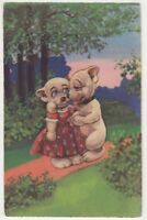 Dogs, Anthropomorhic Art Postcard B798
