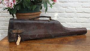 Antique Leather Leg of Mutton Shotgun Case
