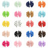 1 piece Girls Hair Pin Polka Dot Grosgrain Ribbon Fishtail Bow Clip Headwear