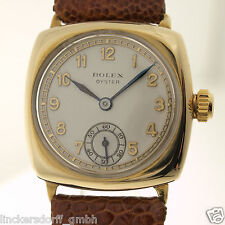ROLEX CUSHION OYSTER IN GOLD REF. 2416 - ART DECO HERREN- ARMBANDUHR - um 1938