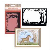 Christmas Scene with Trees embossing folder Nellie Snellen emboss folders EFE026