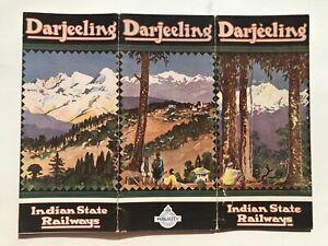 1920's Darjeeling India State Railway to the Himalayan Mountains Travel Brochure