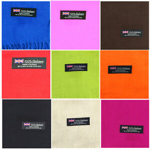 Wholesale unisex 100% CASHMERE Warm wrap Scarf pure solid colored Wool SCOTLAND