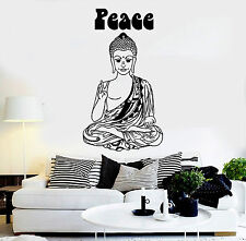 Vinyl Wall Decal Hippie Buddha Peace Buddhism Pacifism Stickers (ig3833)