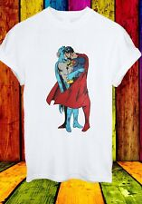 Batman Superman Kiss Gay Pride LGBT Justice League Men Women Unisex T-shirt 222
