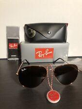 Ray-Ban RB3026 Aviator Sunglasses - Brown Unisex