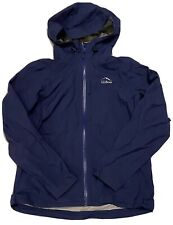 L.L. Bean Woman's Navy Blue Tek O2 Hooded Rain Jacket Size Medium