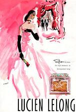 Juliana Petticoats Lingerie Slip TAGLIO BY LUCIEN LELONG Butterfly 1947 Print Ad