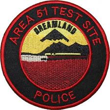 Area 51 Test Site Police Badge Embroidered Patch Sew/Iron-on 10cm
