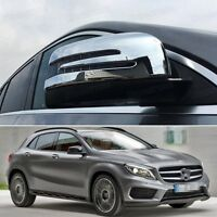 New Chrome Rearview Side Mirror Cover Trim Fit for Mercedes Benz GLA 2015-2017