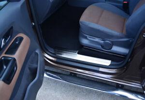 Chrome Door Sill Trim Covers Protectors Set To Fit Volkswagen Amarok (2010