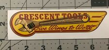 Crescent Tools Give Wings to Work decal for restoration of vintage Wrench box
