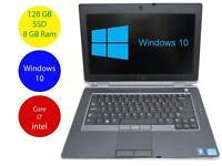 Dell Laptop Windows 10 PC Latitude E6430 i7 2.6GHz 8GB Ram 128SSD 1600 X 900