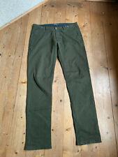 Chino jeans Drykorn elástico algodón elastán caqui military estilo GR 34 - 36