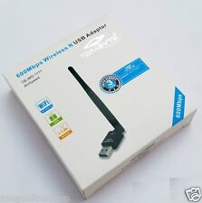 Terabyte USB Wireless Wifi Dongle Adaptor With Antenna 2.4 GHz 600 Mbps 802.11N