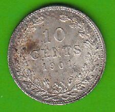 Niederlande 10 Cents 1901 Silber besser als vz selten nswleipzig
