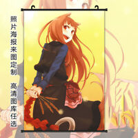 #74 Anime HD Print Home Decor Spice and Wolf Poster Wall Scroll Gift 40*60cm