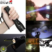 90000LM T6 Zoomable 5-Modes Tactical 18650 Flashlight Focus Torch Light Hot!