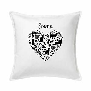Cat Lovers Personalised Cushion Cover, Gift for Cat Lovers, Crazy Cat Lady Gift