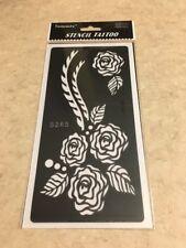 FREE SHIP!!  1 Pc Reusable Henna Stencil Temporary Tattoo Sticker DYI #S265