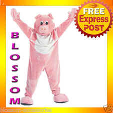 C700 Mens Pig Mascot Deluxe Animal Party Funny Halloween Fancy Dress Costume