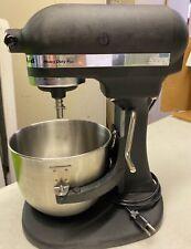New ListingKsm50Hdpbk Kitchen Aid Heavy Duty 5 Quart, Black Wrinkle, raised bowl model.
