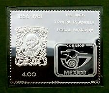 Mexico stamp 1981 MNH with Silver issue + FDC 125th Anniversary of Mexican (T70)