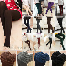 Womens Fleece Lined Thermal Thick Pants Winter Warm Stretch Slim Skinny Leggings