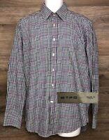 ETRO Men's Multi-Color Plaid Long Sleeve Button Front Designer Shirt Italy 41
