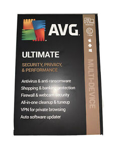 NEW AVG Ultimate Security Privacy 10 Devices 1 Year Windows/Mac/Android