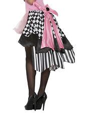 Harlequin Clown Womens Adult Evil Jester Costume Tutu Skirt Bustle-Std